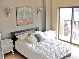 decorating a bedroom with gray walls