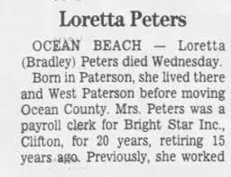Obituary for Loretta Peters - Newspapers.com