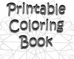 Small Picture Coloring Book Printable Color Pages Digital Coloring Pages