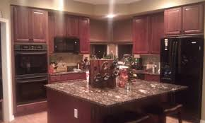 kitchen wall colors with cherry cabinets. Dark Cherry Kitchen Cabinets Wall Color Mykitcheninterior Colors With