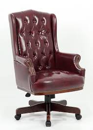 luxury managers directors chesterfield antique captain style pu leather office desk chair furniture