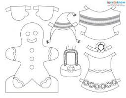 Small Picture Printable Christmas Paper Dolls