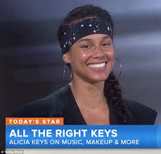natural woman alicia keys went makeup free on the today show this morning