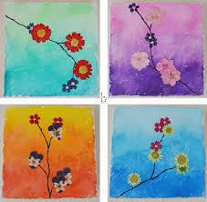 pressed flower watercolor painting by bethanydesigns