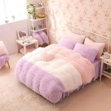 twin size bed sets whole pink color thick fleece princess girls bedding sets king queen twin twin size bed sets