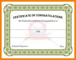 Congratulation Certificate Congratulations Certificate Congratulations Certificate Word