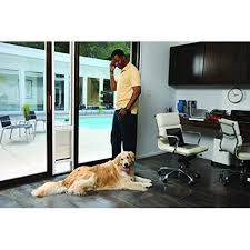 petsafe freedom aluminum patio panel sliding glass pet door 76 13 16 to 81 inch white