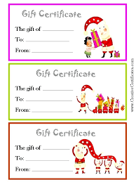 Gift For Letter Of Recommendation Christmas Gift Card Templates Free 3 Printable Gift Certificate