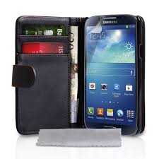 samsung galaxy s4 phone black. samsung galaxy s4 leather-wallet cover case w/ belt clip black phone