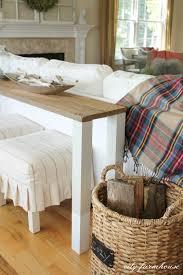 diy sofa table. Exellent Table DIY Console Table Using Reclaimed Wood On Diy Sofa R