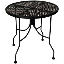 american tables seating alm36 36 round top outdoor table with umbrella hole
