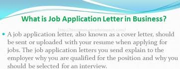 Definition For Cover Letter What Is Job Application Letter Business Communication