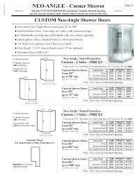 standard shower door height standard glass shower door size standard shower door opening size s hourglass kitchen bath s doors standard
