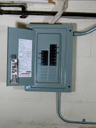 visual guide an electrical service panel or load center electrical panel open door
