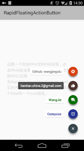 Material Design Button Android Github Floating Action Button Label On Right Side Stack Overflow