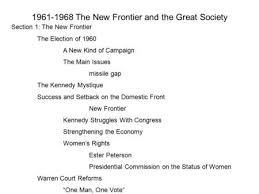 Student The New Frontier And The Great Society 1960s Ppt
