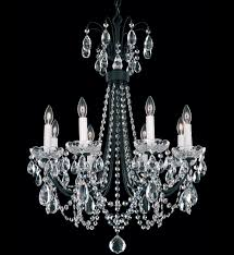 schonbek lucia 8 light crystal chandelier undefined