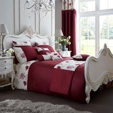 fancy koh deep red quilt cover