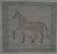 Knit Design Dishcloth Elnas Equine Art