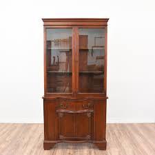 Hutch Display Cabinet Mahogany China Hutch Display Cabinet Loveseat Vintage Furniture