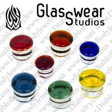 Pyrex Color Chart Glasswear Pyrex Glass Single Flare Color Front Plugs 12g 1