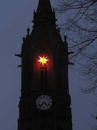 Weihnachtsstern An Der Paul Gerhardt Kirche Zu Ragow Fröhl
