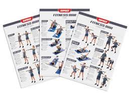 Ultrafit Laminated Fitness Bar Charts