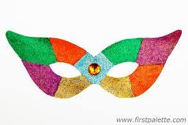 Card Masks To Decorate Masquerade Mask Craft Kids' Crafts FirstPalette 68