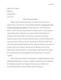 Rhetorical Situation Essay Magdalene Project Org