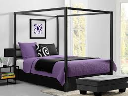queen canopy bedroom sets bb size gunmetal grey metal modern canopy bed queen