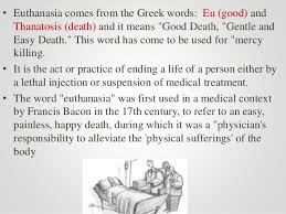 how to write papers about mercy killing essay passive mercy killing involves the rejection of common treatments such as antibiotics which are necessary to sustain life mercy killing is a term that