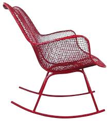 vintage metal outdoor rocker patio rocking chairs resin wicker steel high back chair