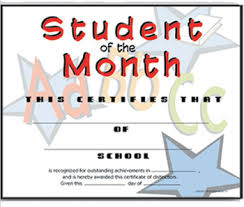 Student Of The Month Certificates Certificate For Student Of The Month Ctsm002 School Photo Marketing
