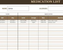 Medication Administration Record Template Free Medication Administration Record Template Excel Yahoo Image