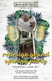 palm beach county join chef julien gremaud and the avocado grill team for the unveiling celebration of avocado grill wpb light bites will be served