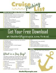 Cruise Packing List Free Printable Cruise Packing List Dont Forget Anything And Save