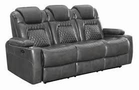 coaster korbach faux leather reclining