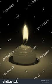 Candle Light Illusion Dark Background Candle Flickered Illusion Light Stock Photo