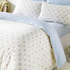 molly blue fl king size bedding in 100 brushed cotton