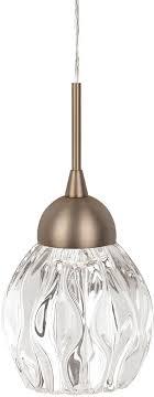 kuzco pd56205 vb tulip contemporary vintage brass led mini drop lighting fixture loading zoom