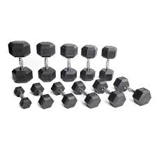 Rubber Coated Hex Dumbbell Set With Rack Stunning CAP Rubber Hex Dumbbells With Contoured Handle Sets SDRS