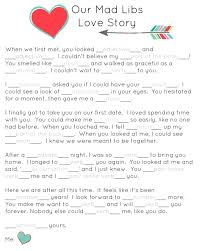 Our Mad Libs Love Story ~ Free Printable (and laughs!) - Or so she ...