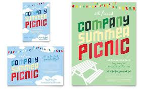 Company Summer Picnic Flyer Ad Template Design Picnic