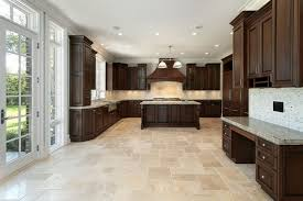 Kitchen Ceramic Tile Kitchen Wood Tile Floor Ideas Cone Black Hanging Lamp White Stone