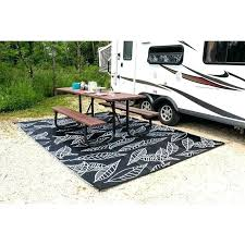 awesome outdoor rug arctic reversible camping patio mat black white area custom rv rugs carpet