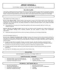 Cover Letter Medical Billing Clerk Resume Sample With Technical