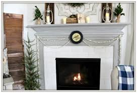 winter mantel french country farmhouse cottage style buffalo check from