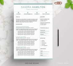 Resume Sections Fascinating Modern Resume Template Word Resume Cover Letter Etsy
