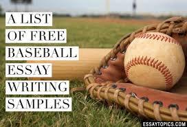 essays about baseball resume maker program short essay on baseball