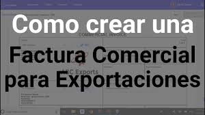 Create A Commercial Invoice Spanish How To Create Commercial Invoice For Export